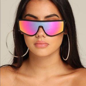 Women's Cosmic Mirrored Shield Sunglasses